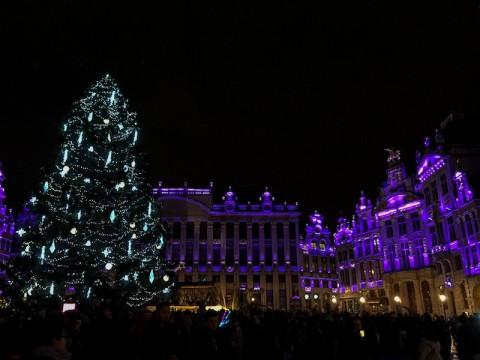 Grand Place en Navidad