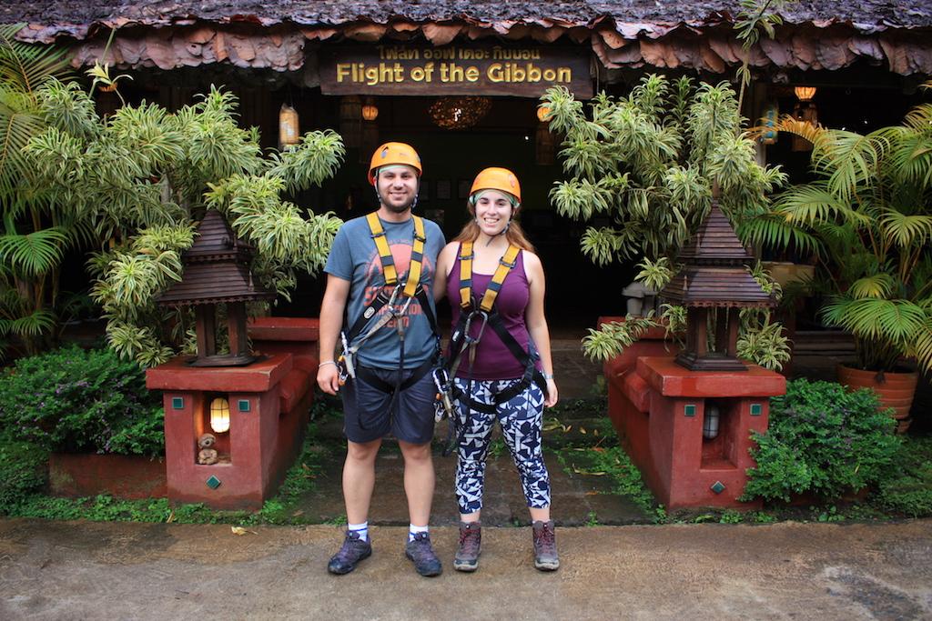 Tirolinas en Chiang Mai