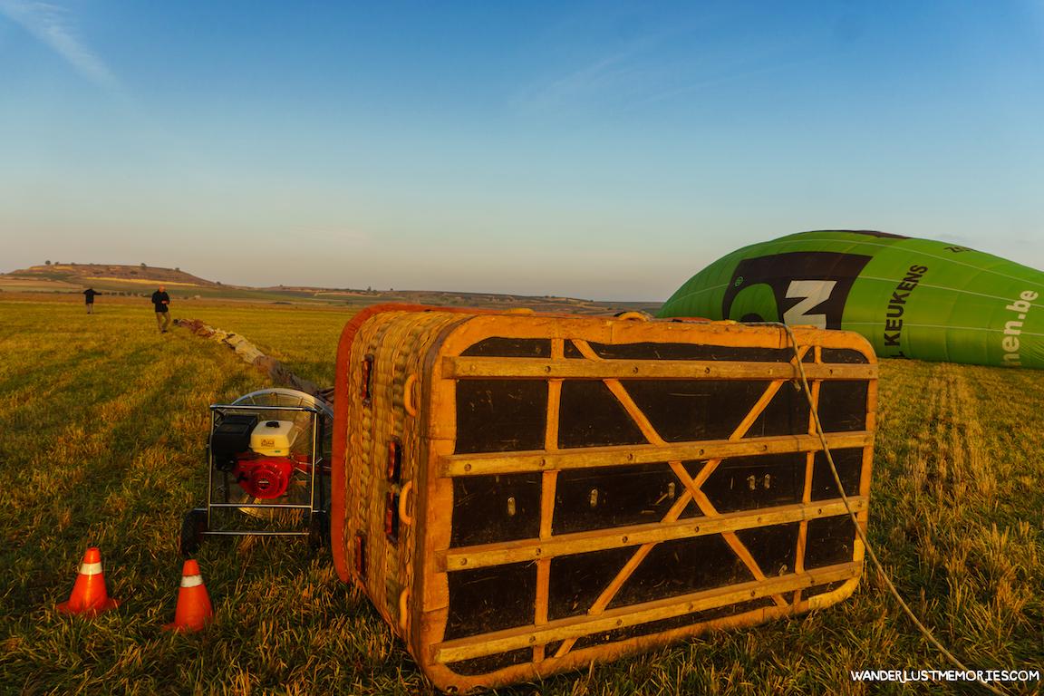 volar en globo cesta