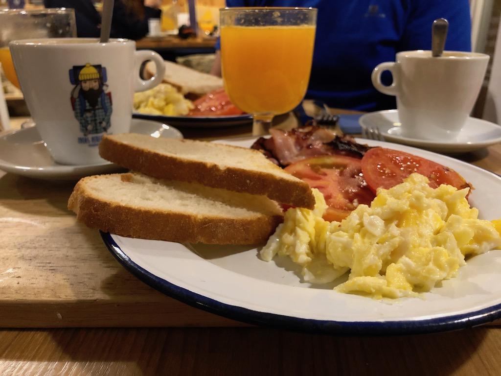 desayuno camino de santiago